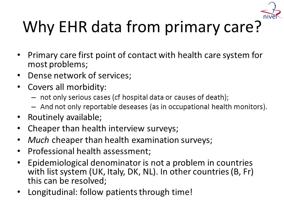 Why EHR data from primary care
