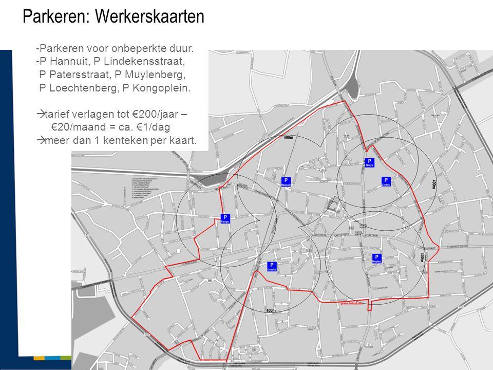 Parkeren: Werkerskaarten