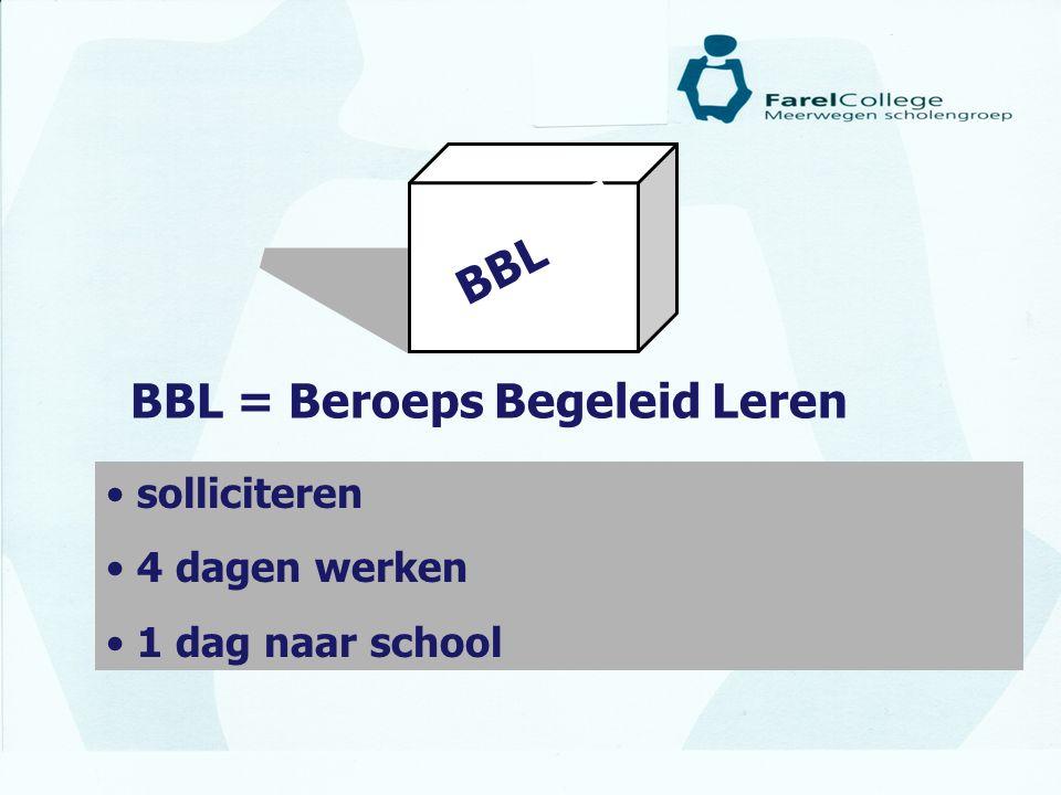 BBL = Beroeps Begeleid Leren