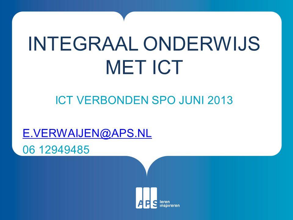 Integraal onderwijs met ict