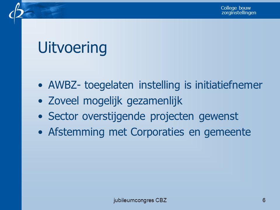 Uitvoering AWBZ- toegelaten instelling is initiatiefnemer