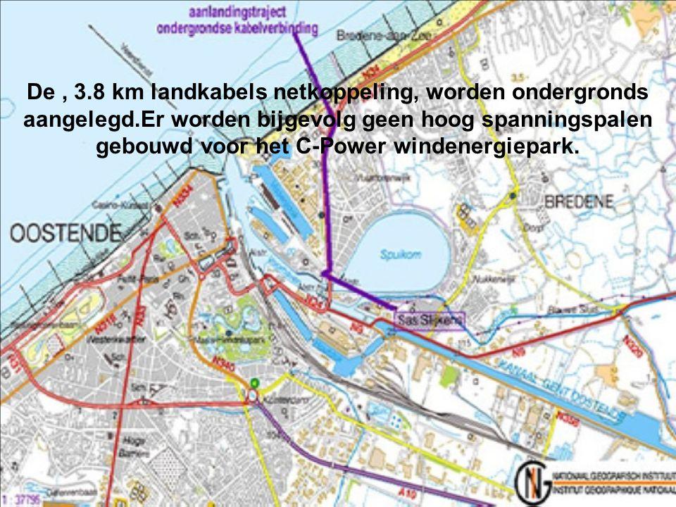 De , 3. 8 km landkabels netkoppeling, worden ondergronds aangelegd