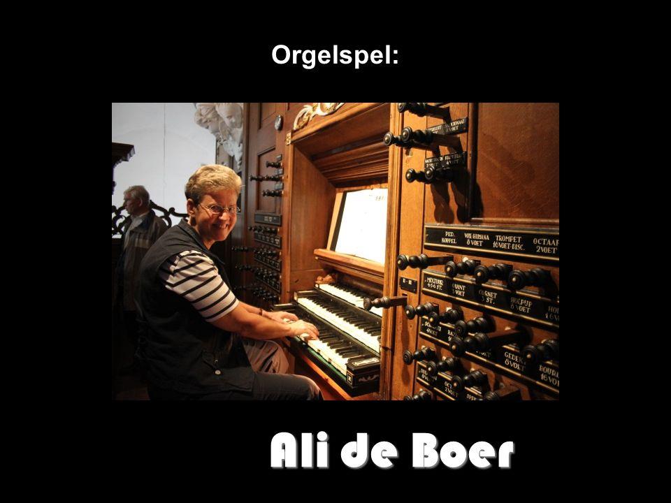 Orgelspel: Ali de Boer