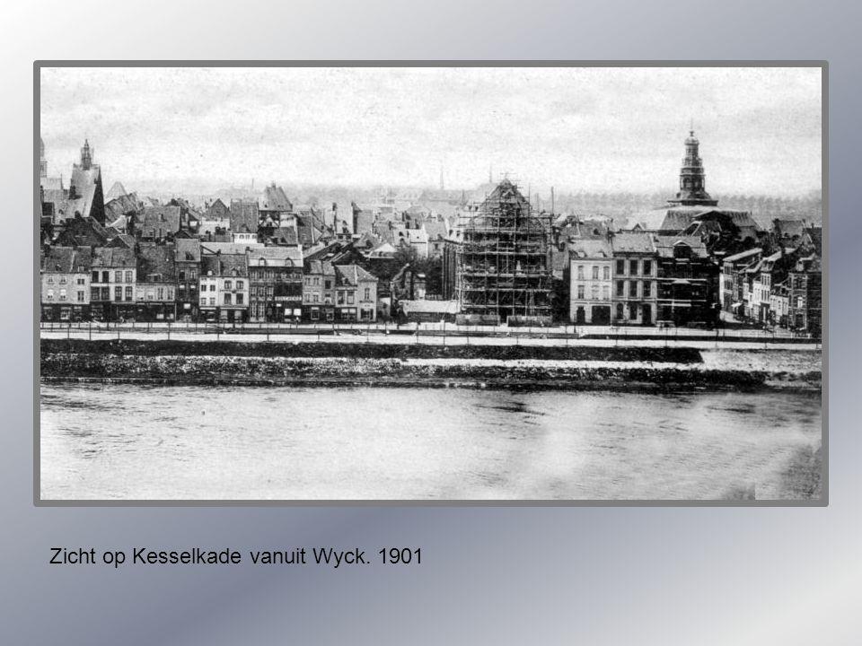 Zicht op Kesselkade vanuit Wyck. 1901