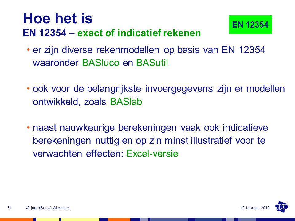 Hoe het is EN 12354 – exact of indicatief rekenen