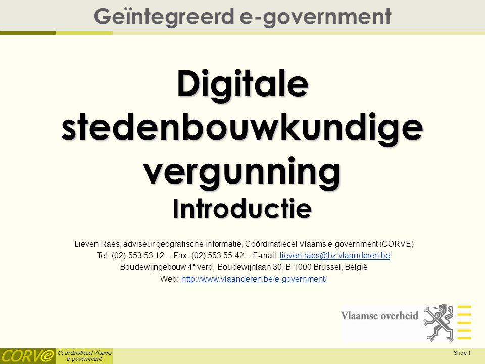 Digitale stedenbouwkundige vergunning Introductie