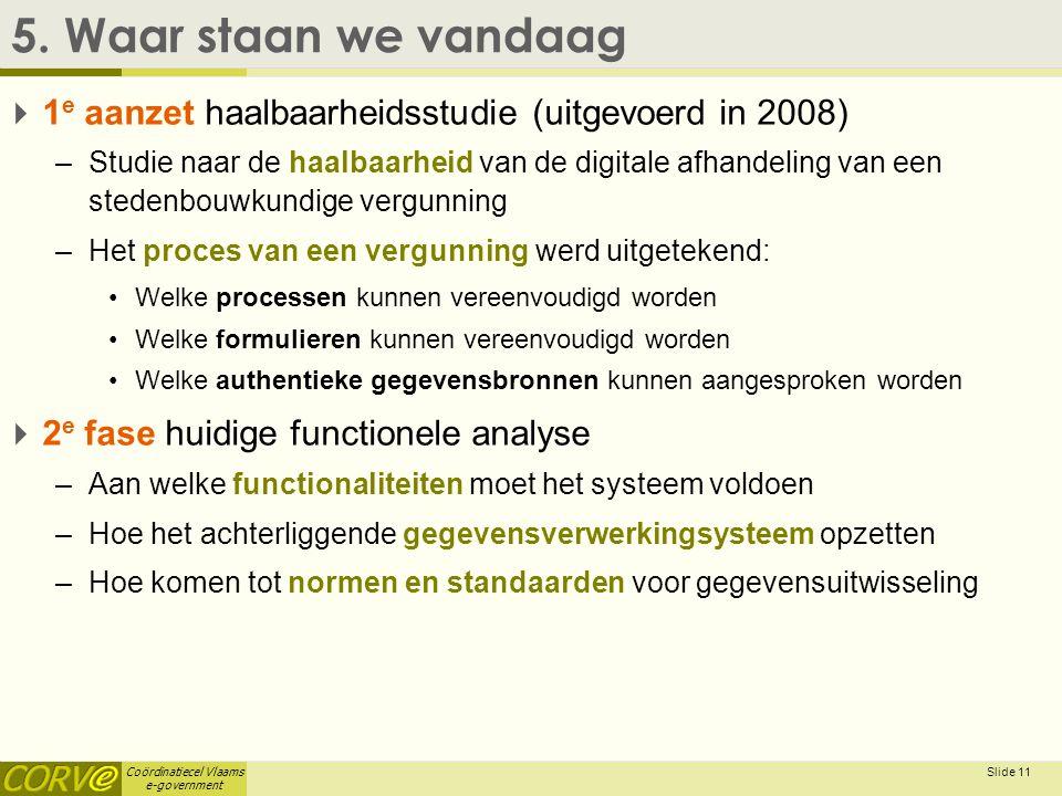 5. Waar staan we vandaag 1e aanzet haalbaarheidsstudie (uitgevoerd in 2008)