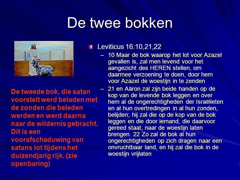De twee bokken Leviticus 16:10,21,22