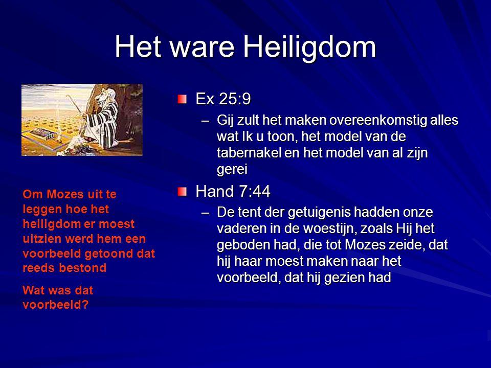 Het ware Heiligdom Ex 25:9 Hand 7:44