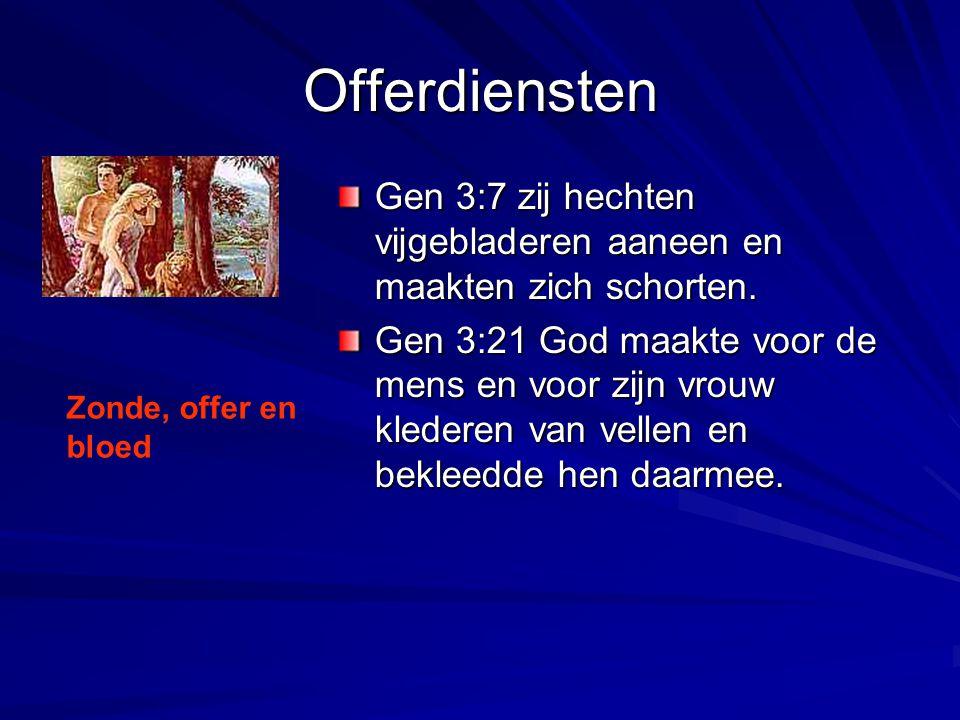 Offerdiensten Gen 3:7 zij hechten vijgebladeren aaneen en maakten zich schorten.