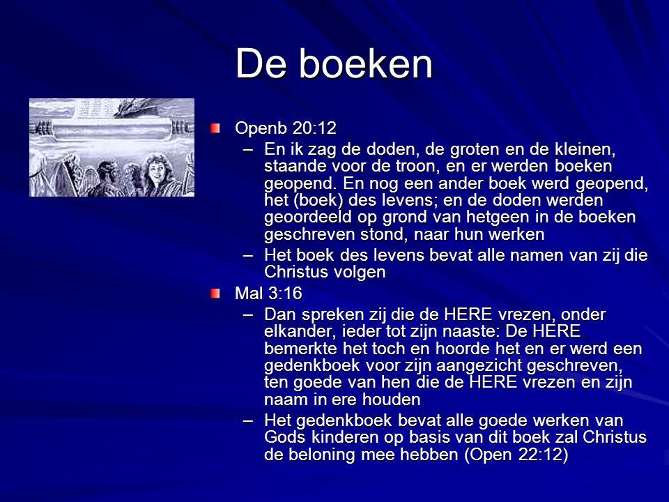 De boeken Openb 20:12.