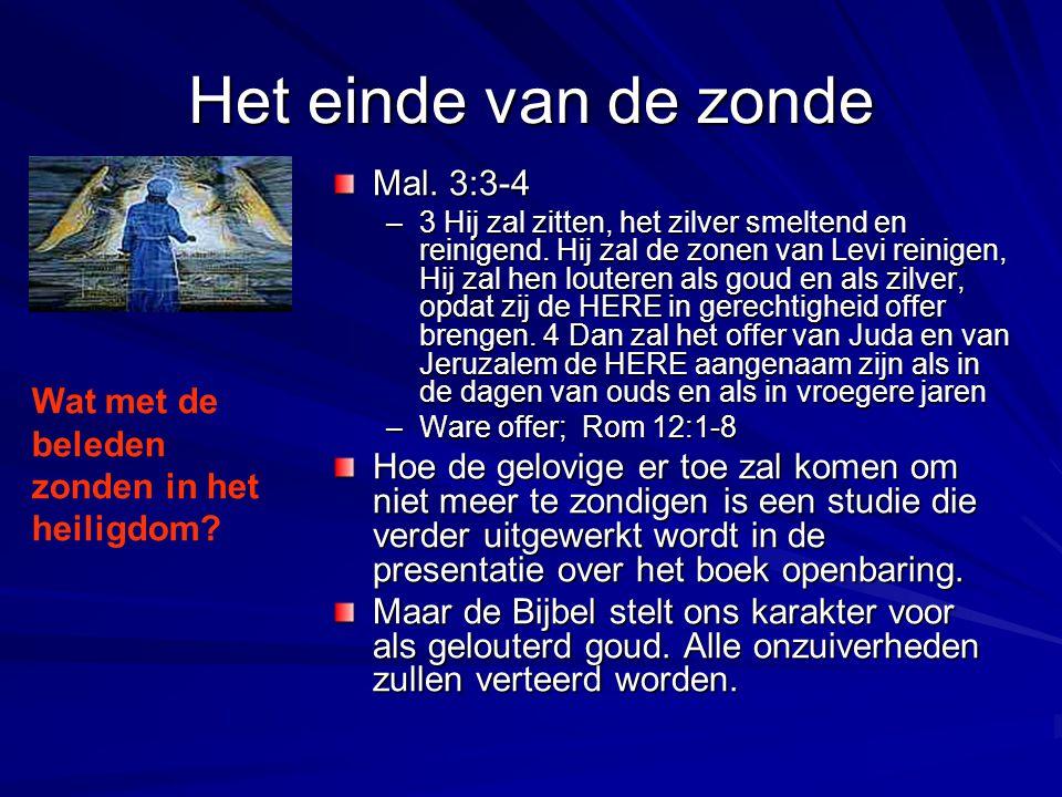 Het einde van de zonde Mal. 3:3-4