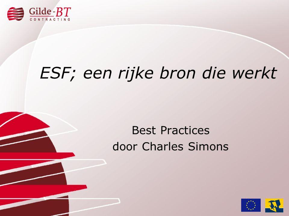 ESF; een rijke bron die werkt