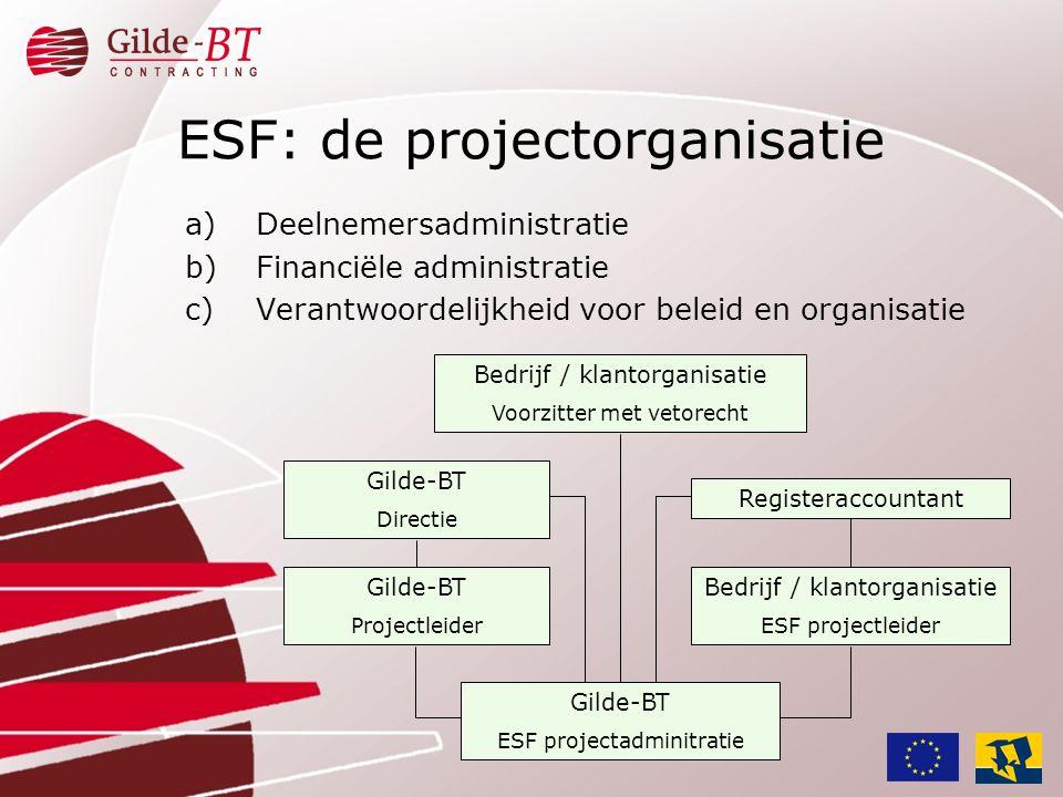 ESF: de projectorganisatie