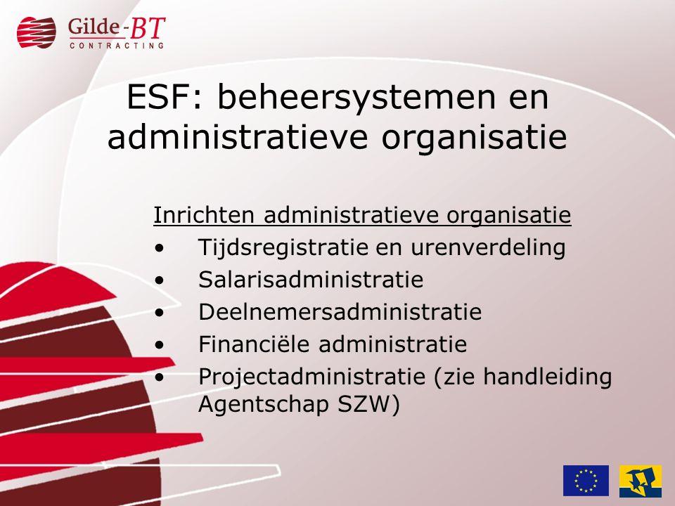 ESF: beheersystemen en administratieve organisatie