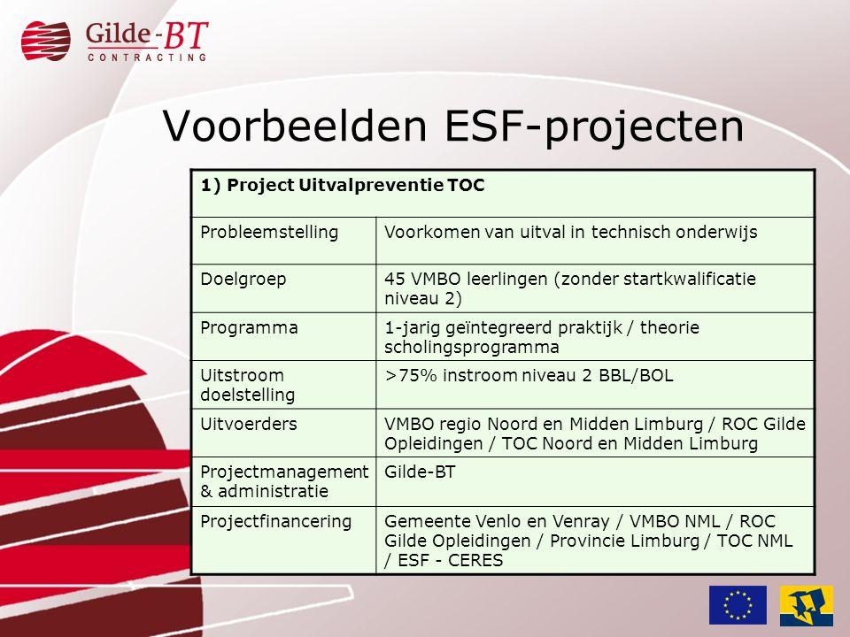 Voorbeelden ESF-projecten