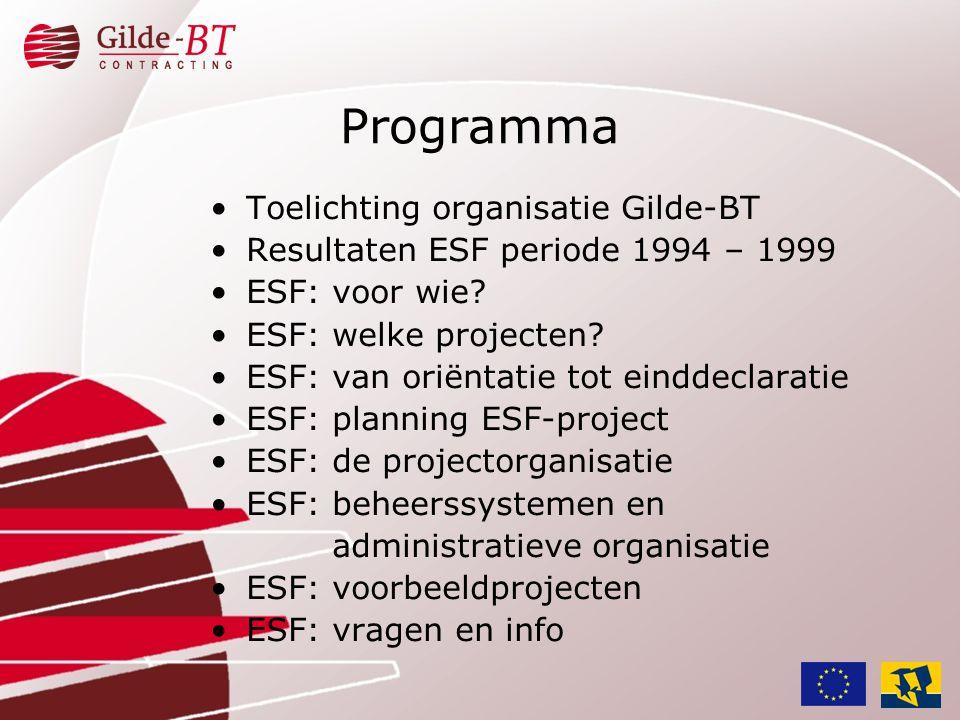 Programma Toelichting organisatie Gilde-BT