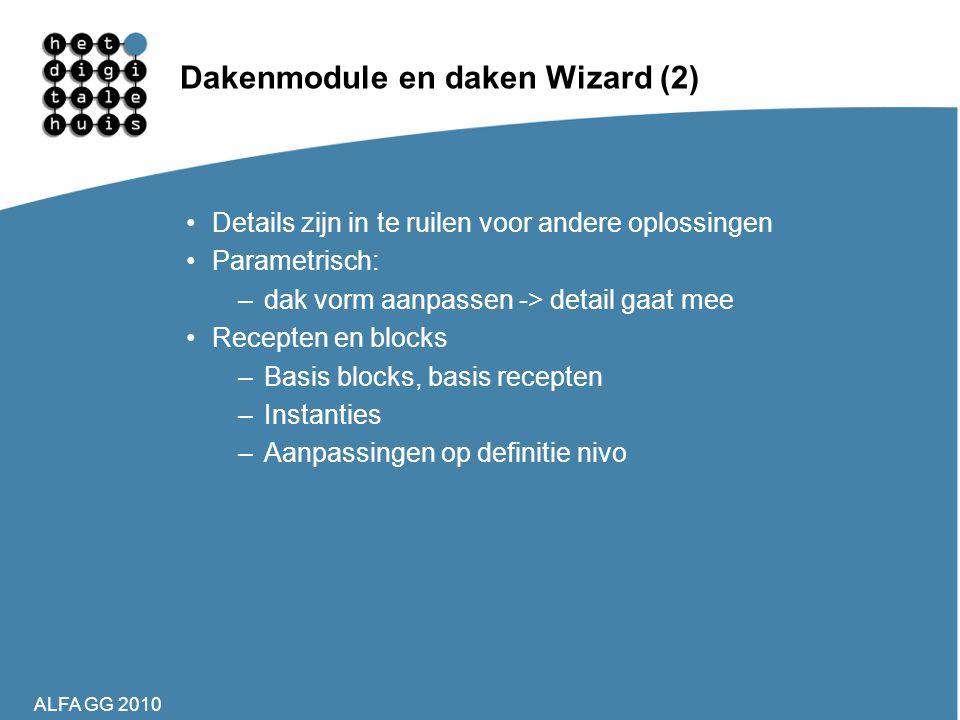 Dakenmodule en daken Wizard (2)