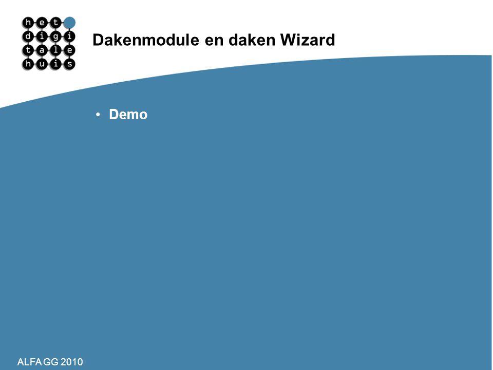 Dakenmodule en daken Wizard