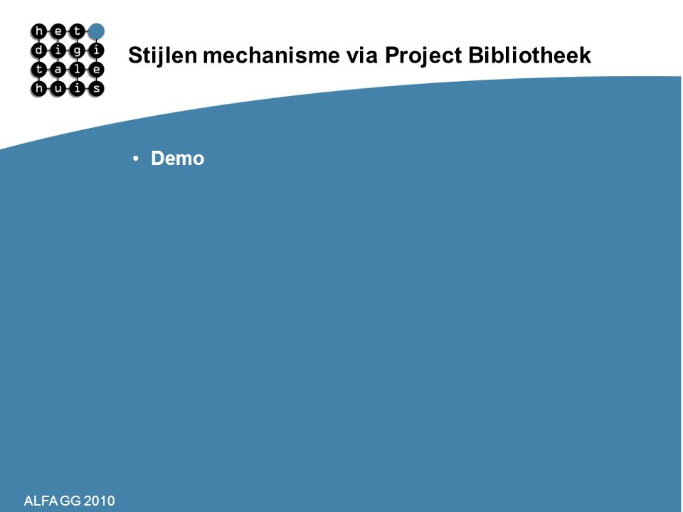 Stijlen mechanisme via Project Bibliotheek