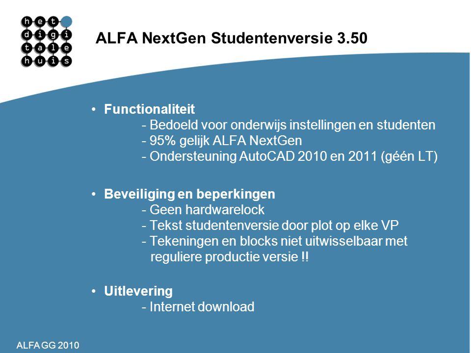 ALFA NextGen Studentenversie 3.50