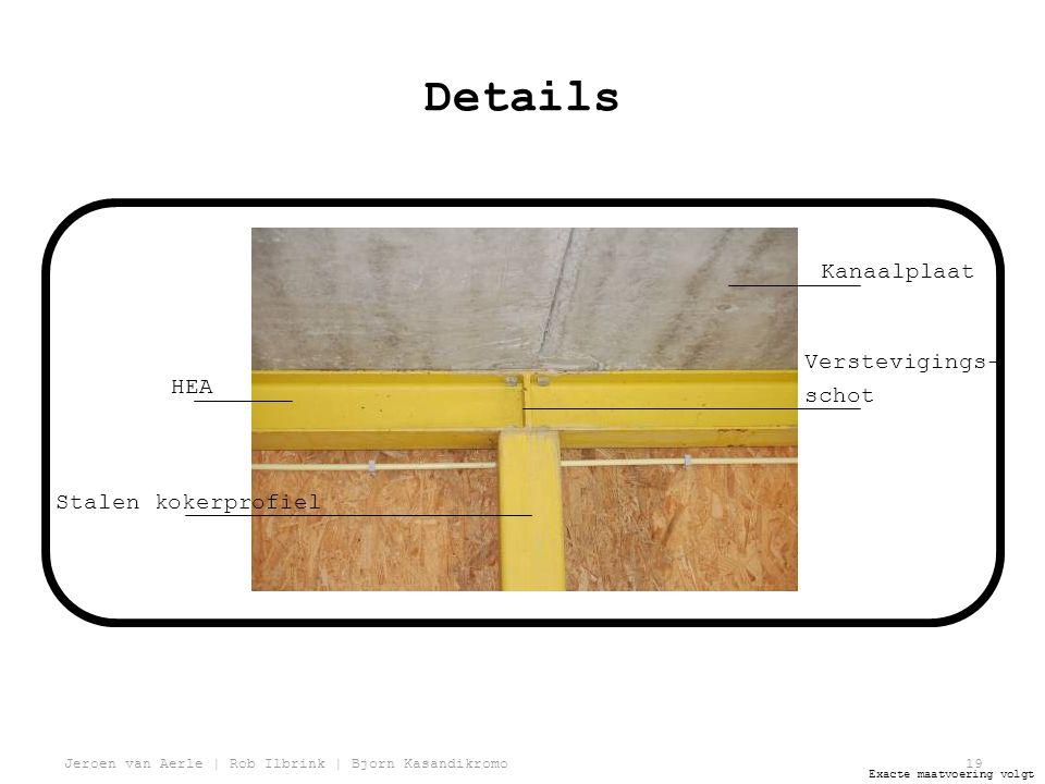 Details Kanaalplaat Verstevigings- schot HEA Stalen kokerprofiel
