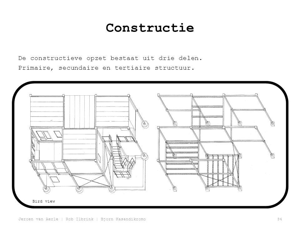 Constructie De constructieve opzet bestaat uit drie delen.