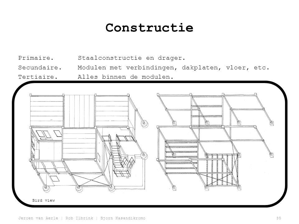 Constructie Primaire. Staalconstructie en drager.