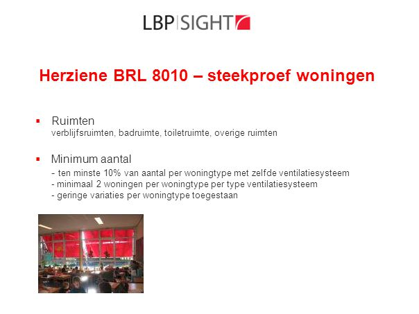Herziene BRL 8010 – steekproef woningen