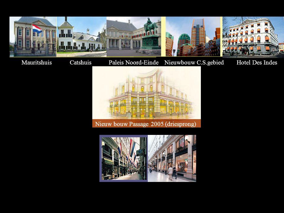 Mauritshuis Catshuis. Paleis Noord-Einde. Nieuwbouw C.S.gebied.