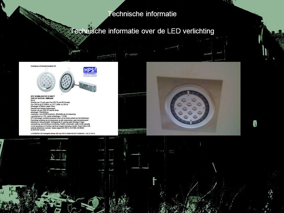 Technische informatie Technische informatie over de LED verlichting