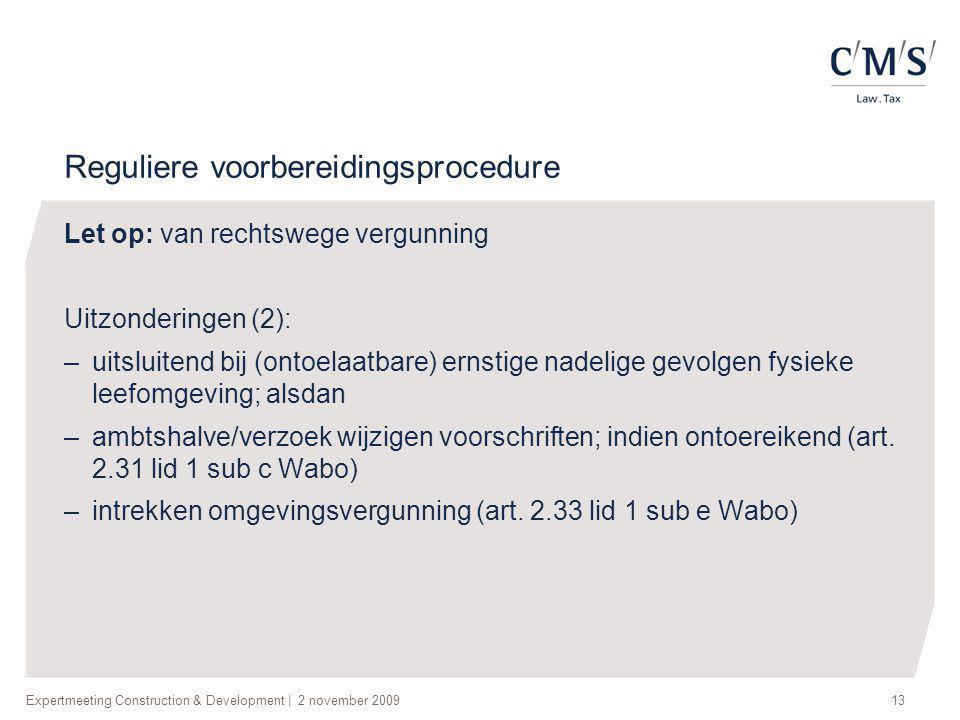 Reguliere voorbereidingsprocedure