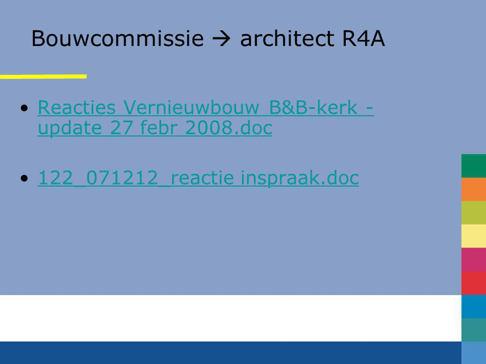 Bouwcommissie  architect R4A