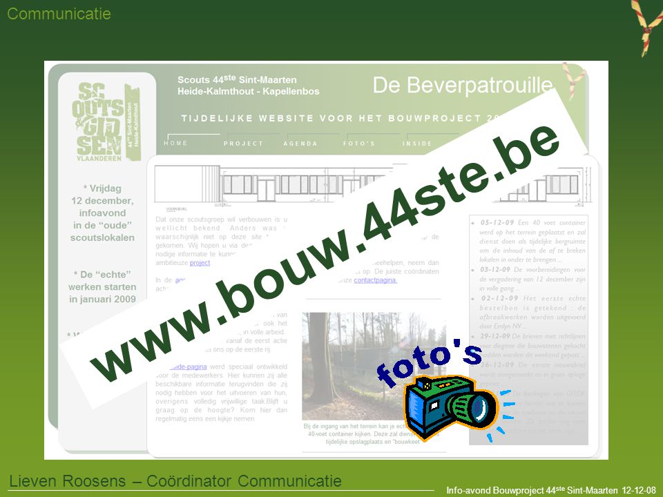 www.bouw.44ste.be Communicatie