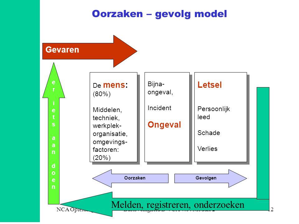 Oorzaken – gevolg model