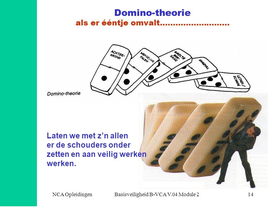 Domino-theorie als er ééntje omvalt………………………