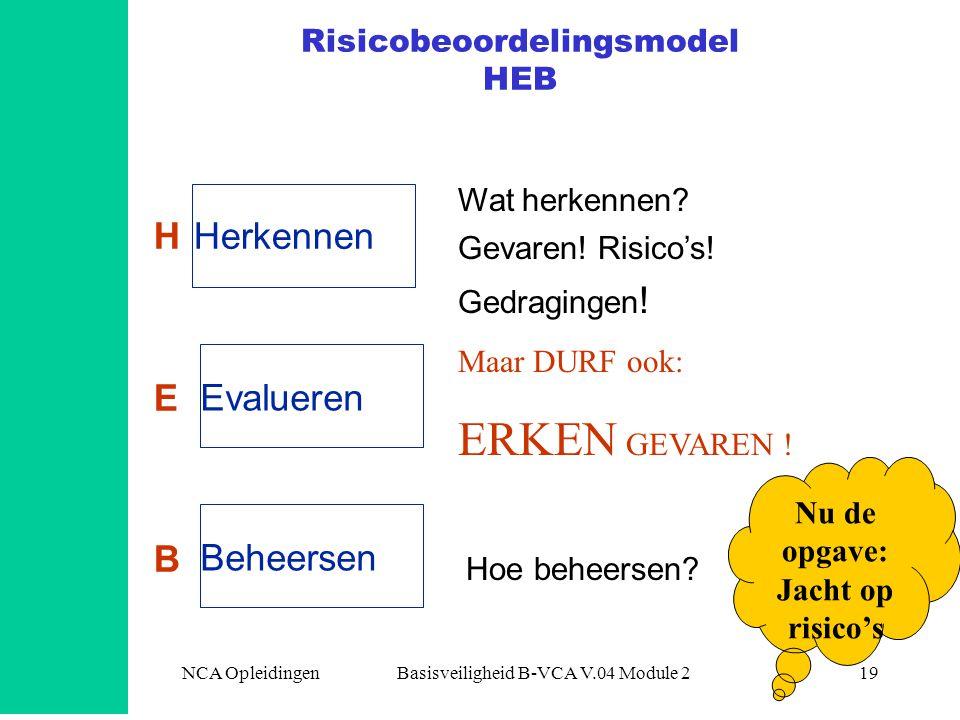 Risicobeoordelingsmodel HEB
