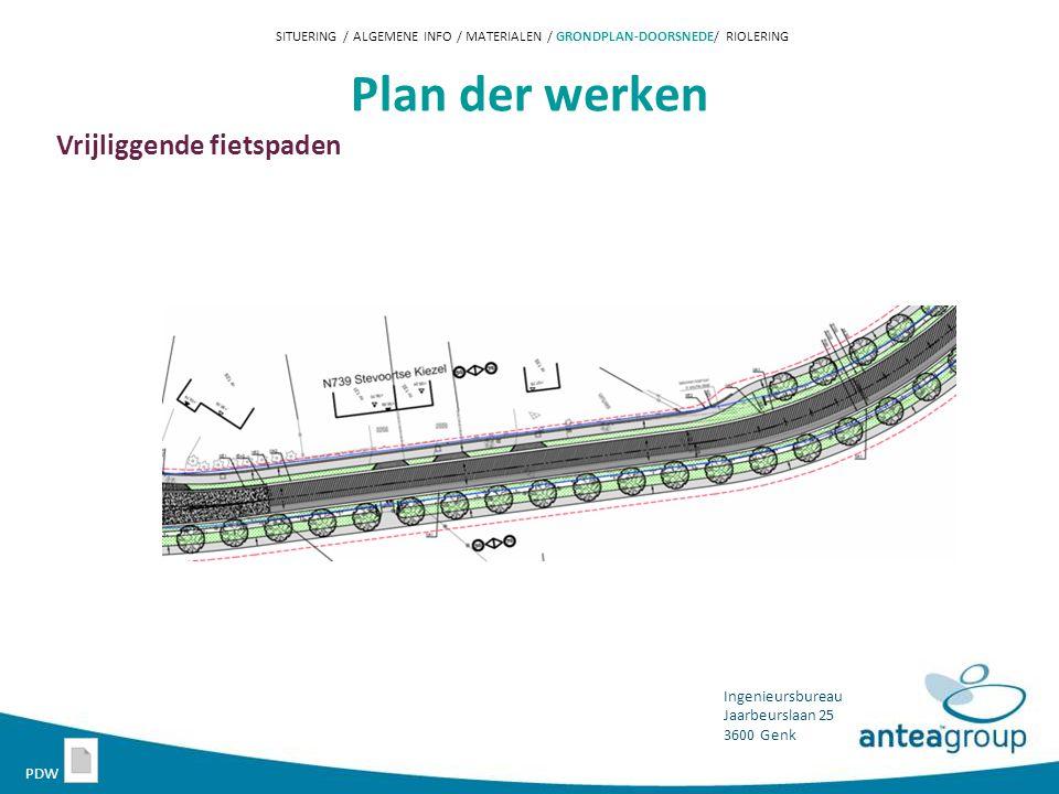 Plan der werken Vrijliggende fietspaden PDW