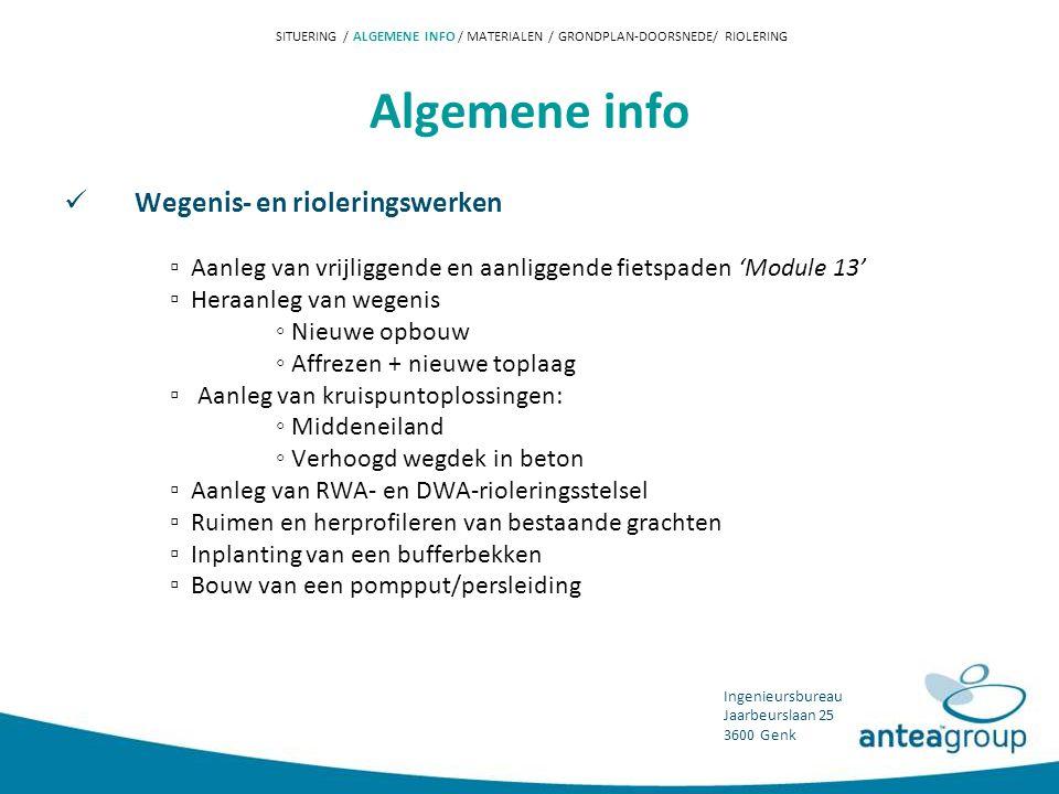 Algemene info Wegenis- en rioleringswerken