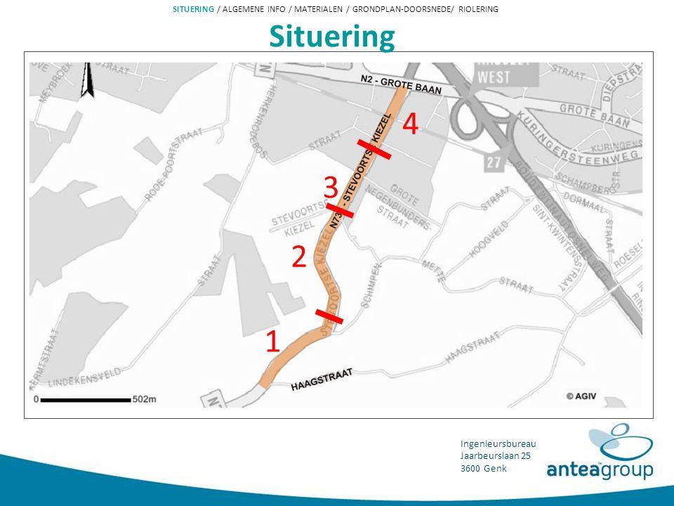 SITUERING / ALGEMENE INFO / MATERIALEN / GRONDPLAN-DOORSNEDE/ RIOLERING