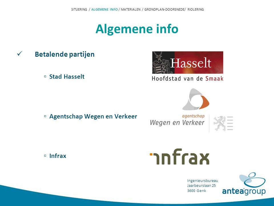 Algemene info Betalende partijen ▫ Stad Hasselt