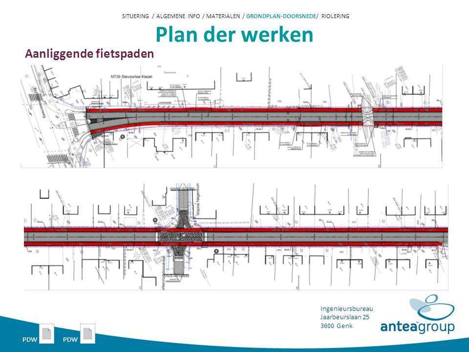 Plan der werken Aanliggende fietspaden PDW PDW
