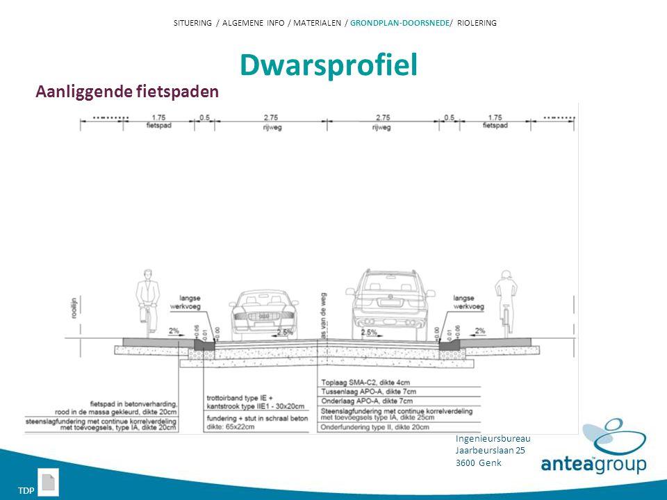 Dwarsprofiel Aanliggende fietspaden TDP