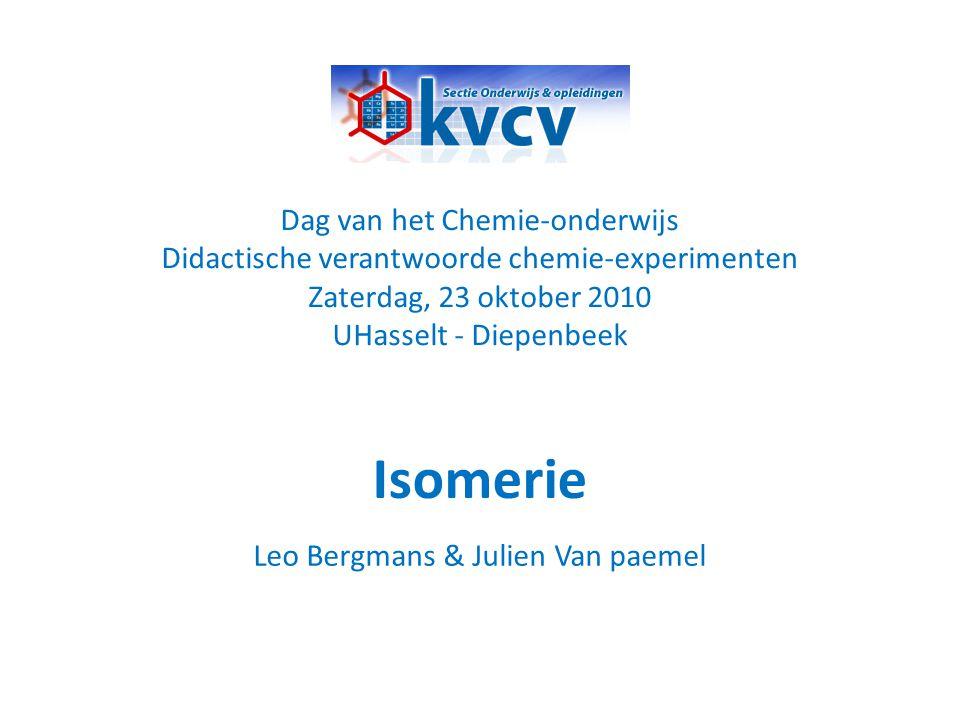 Isomerie Dag van het Chemie-onderwijs