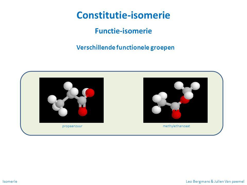 Constitutie-isomerie Verschillende functionele groepen
