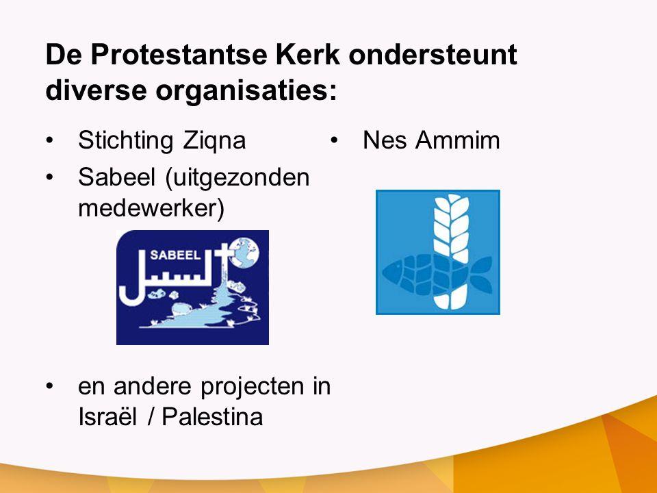 De Protestantse Kerk ondersteunt diverse organisaties: