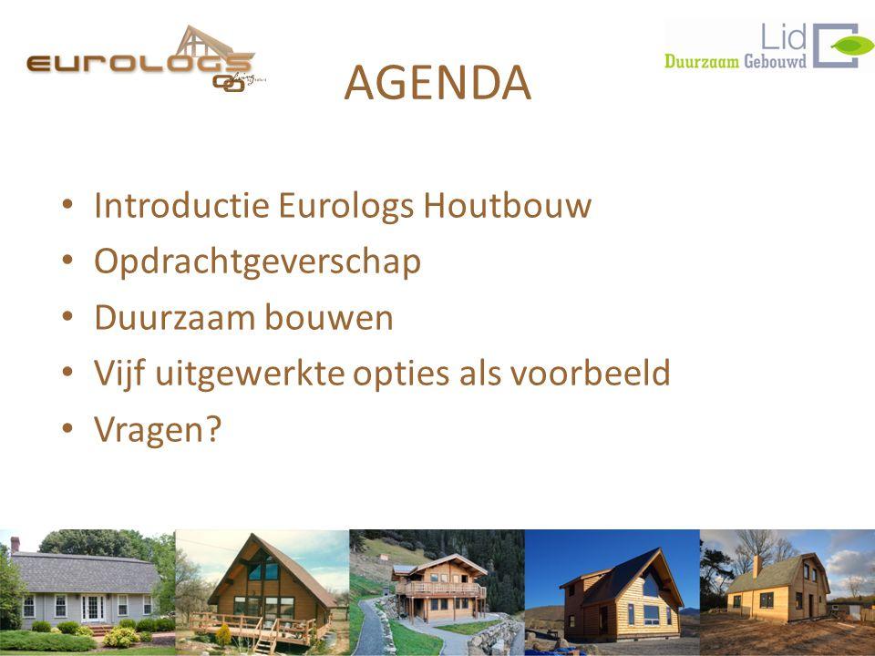 AGENDA Introductie Eurologs Houtbouw Opdrachtgeverschap