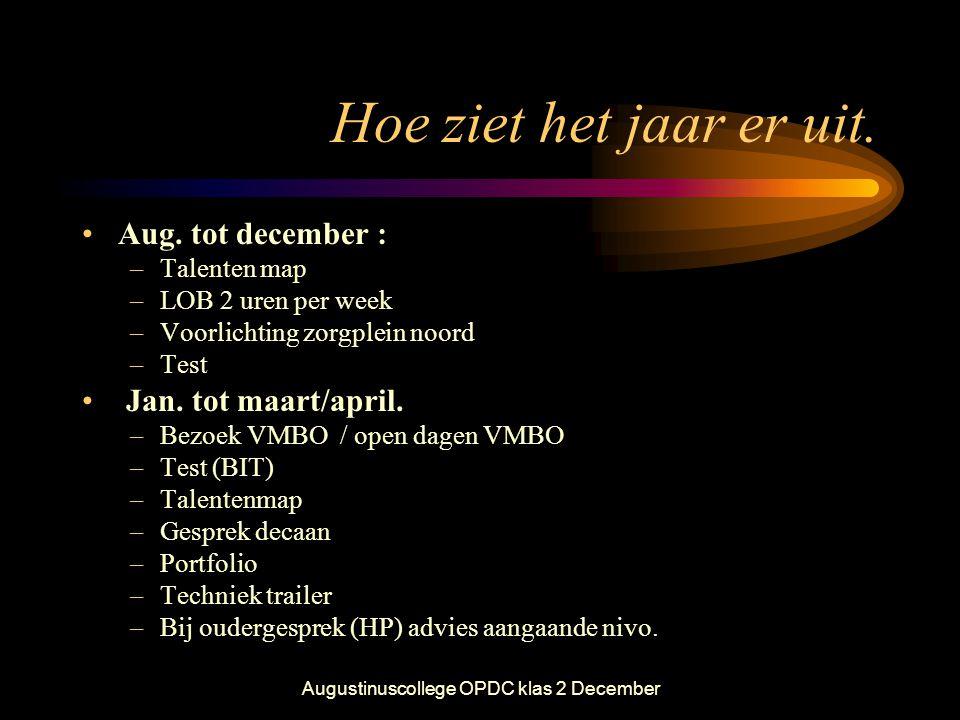 Augustinuscollege OPDC klas 2 December