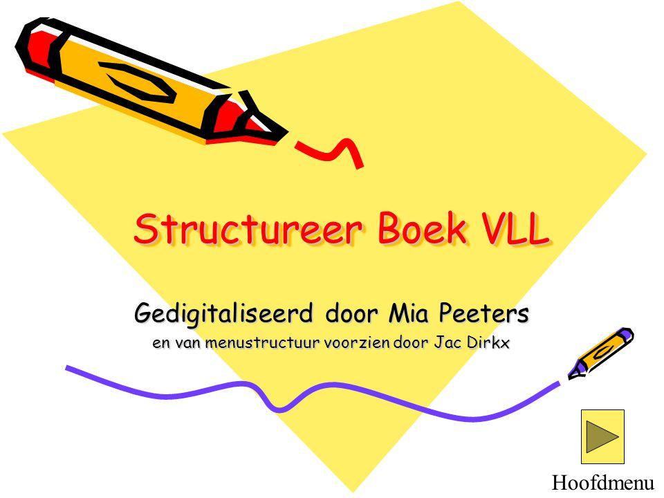 Structureer Boek VLL Gedigitaliseerd door Mia Peeters Hoofdmenu