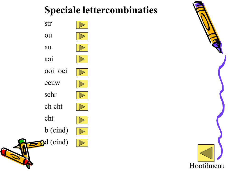 Speciale lettercombinaties